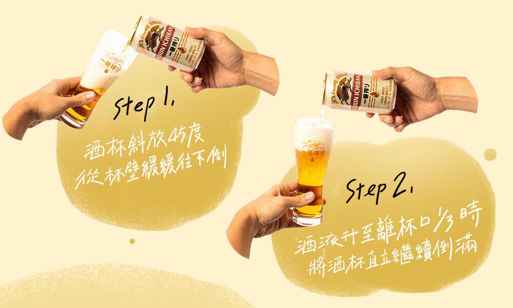 簡單兩步驟,倒出傳說中的「 黃金比例 - 泡沫:酒液 3:7 」