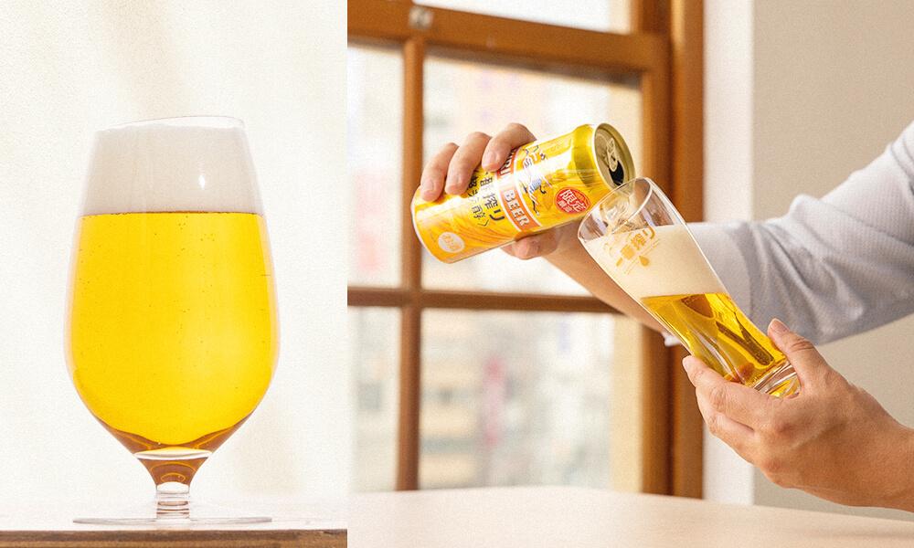 選擇傾斜的杯緣,或開口較寬的酒杯,更能完整享受到高濃度一番麥汁的極致芳醇