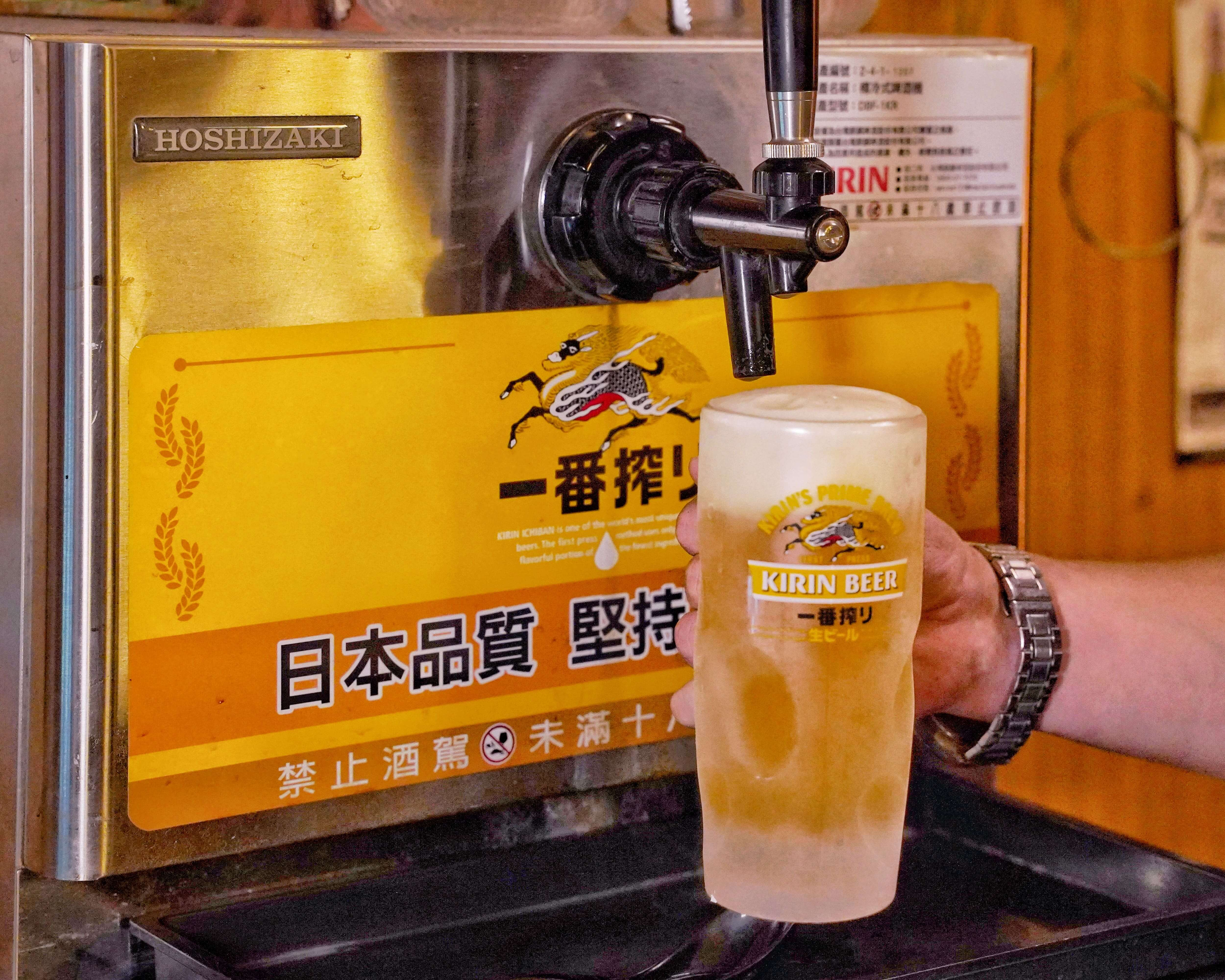 日本KIRIN麒麟很有名的代表:一番搾啤酒,一直都是經典